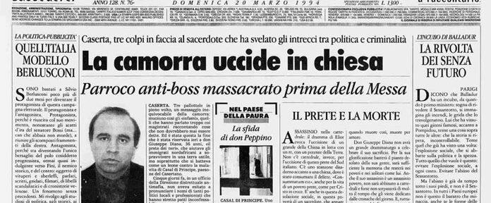 """Per non dimenticare. Perchè se dimentichiamo vincono """"loro"""": 23 anni fa ucciso dalla camorra Don Peppe Diana – La sua accusa """"Per amore del mio popolo non tacerò"""", fu anche la sua condanna a morte!"""