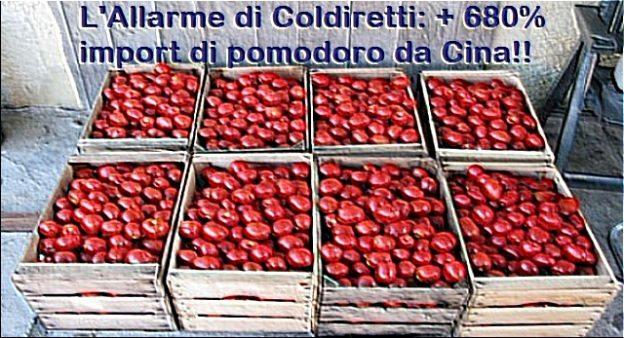 L'Allarme di Coldiretti: + 680% import di pomodoro da Cina!! …Rendiamoci conto di quali porcherie ci rifilano come Made in Italy tutti i giorni!!