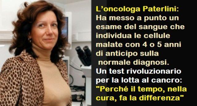 """L'oncologa Patrizia Paterlini: """"Scopro i tumori prima che nascano"""""""