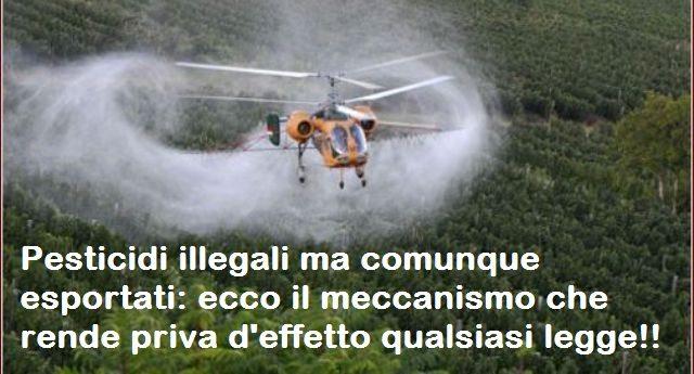 Pesticidi illegali ma comunque esportati: ecco il meccanismo che rende priva d'effetto qualsiasi legge!!