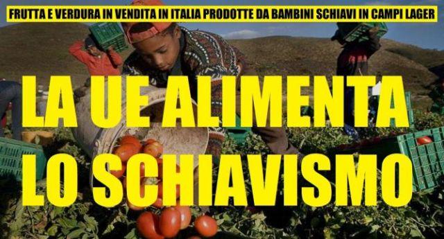 Bambini schiavi e contadini sfruttati come bestie: ecco cosa c'è dietro ai prodotti ortofrutticoli senza dazi che la UE fa arrivare fino a noi!