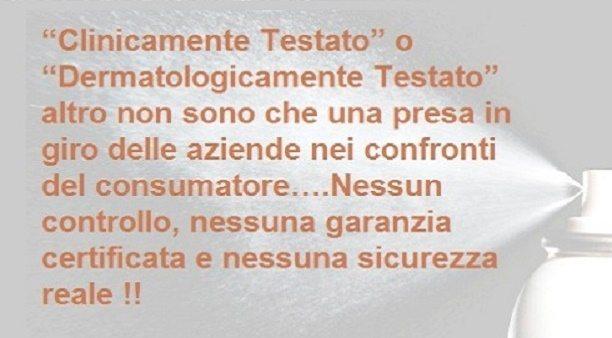 """La Grande bufala del """"CLINICAMENTE TESTATO"""" !!"""