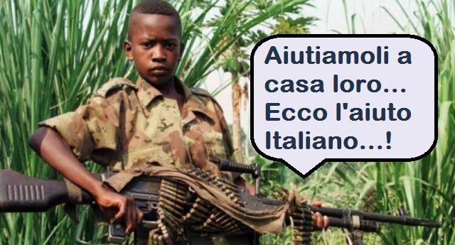 """Migranti – Ecco cosa intende Renzi quando dice """"aiutarli a casa loro"""": col suo Governo l'esportazione di armi è aumentata del 500%…!!!"""
