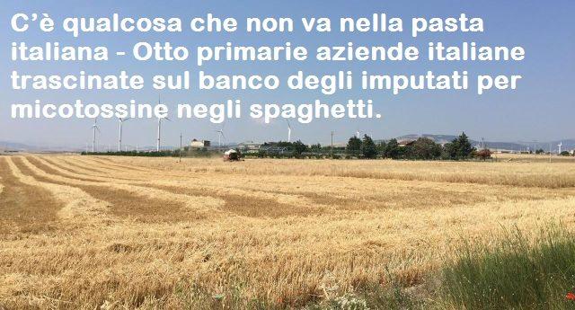 C'è qualcosa che non va nella pasta italiana – Otto primarie aziende italiane trascinate sul banco degli imputati per micotossine negli spaghetti.