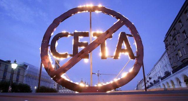 Il CETA entra in vigore SENZA ESSERE STATO VOTATO, contro la volontà e sulla pelle della Gente: paradossi di quella porcheria che qualcuno in Europa si ostina a chiamare democrazia!