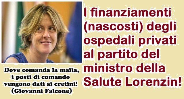 I finanziamenti (nascosti) degli ospedali privati al partito del ministro della Salute Lorenzin