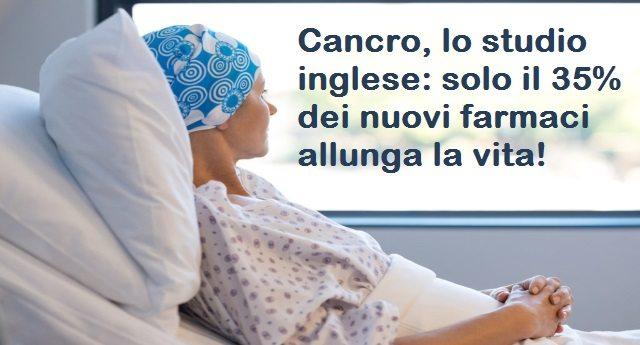 Cancro, lo studio inglese: solo il 35% dei nuovi farmaci allunga la vita