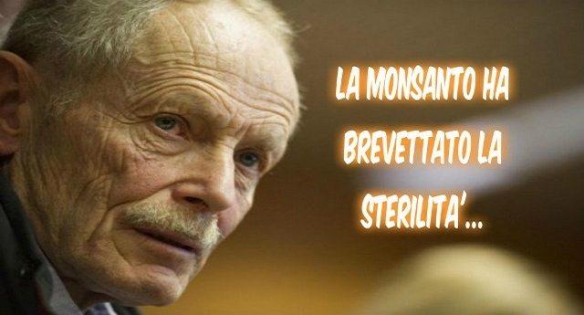 """Erri De Luca – """"La Monsanto ha brevettato la sterilità. Ci vendono un seme che cresce, fa il frutto e poi muore"""""""