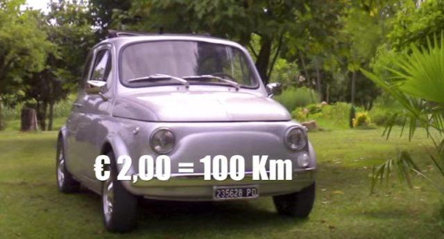Recupera una vecchia Fiat 500 e la trasforma in auto elettrica. Risultato? Bella, ecologica e ci fa 100km con 2 Euro!