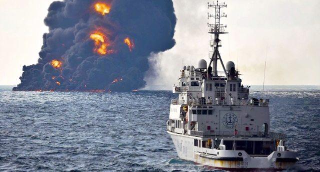 Uno dei più gravi disastri ambientali della storia dell'umanità di cui nessuno ci dice niente: sversati 100 kmq di petrolio nel Mar Cinese! – E statene certi, le conseguenze le sentiremo presto sulla nostra pelle!