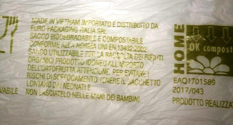 Ti fanno pagare 2 cent il sacchetto ortofrutta perchè è bio, non inquina… Ma il sacchetto è made in Vietnam. Ha viaggiato, inquinando, per 10.000 km… Non trovate che c'è qualcosa che non quadra?